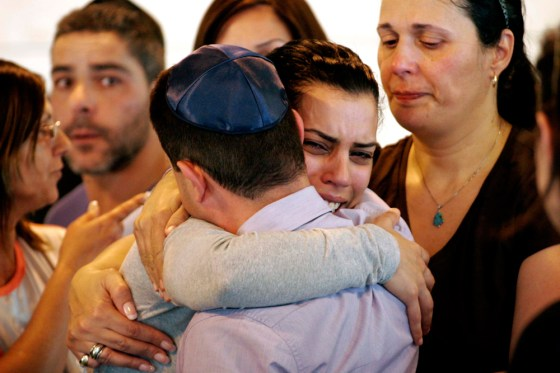 The funeral in Be'er Sheva after the murder in 2012
