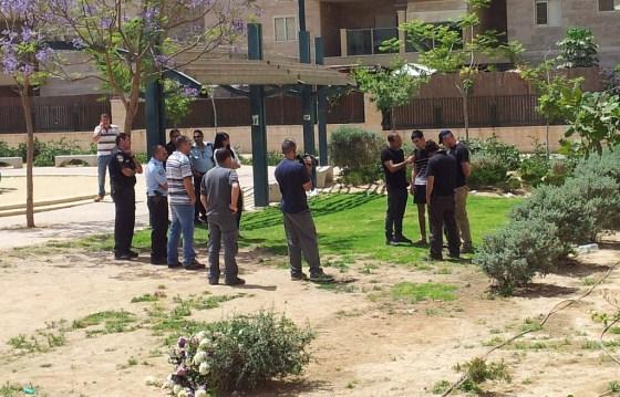 The murder scene in Be'er Sheva, 2012