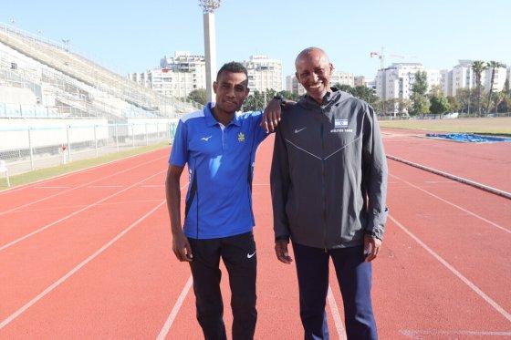 Godaudeo Latchao and his coach