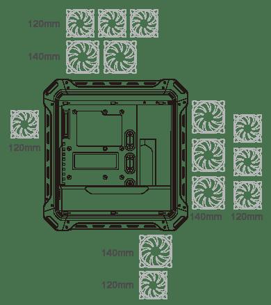 COUGAR Panzer Evo RGB Black RGB LED Gaming Case with