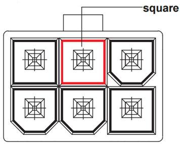 Coboc 2LP4PCIE6-6 6.1 in. Dual 4-pin Molex LP4 to 6 Pin
