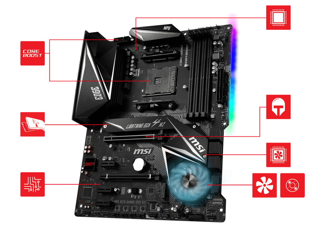 medium resolution of msi meg x570 godlike overview