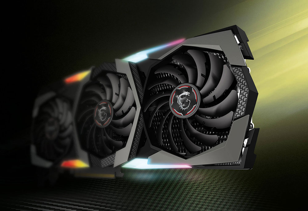 MSI RTX 2080 Super Gaming X TRIO Graphics Card Angled to the Left