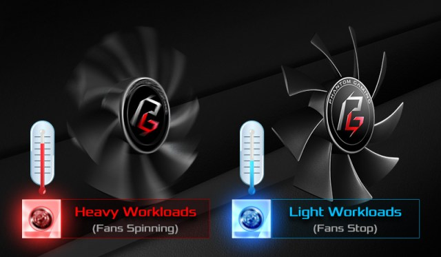 a temperature comparison between heavry workloads and light workloads