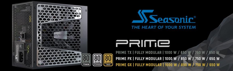 Seasonic PRIME Full Modular, Fan Control in Fanless, Silent, and Cooling Mode and Seasonic logo
