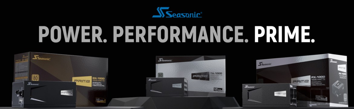Seasonic PRIME Full Modular, Fan Control in Fanless, Silent, and Cooling Mode power.performance. prime