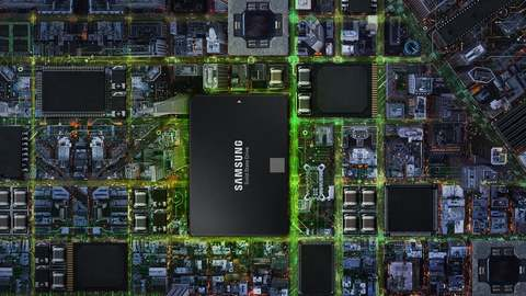 The samsung SSD amongst various circuitry on a board