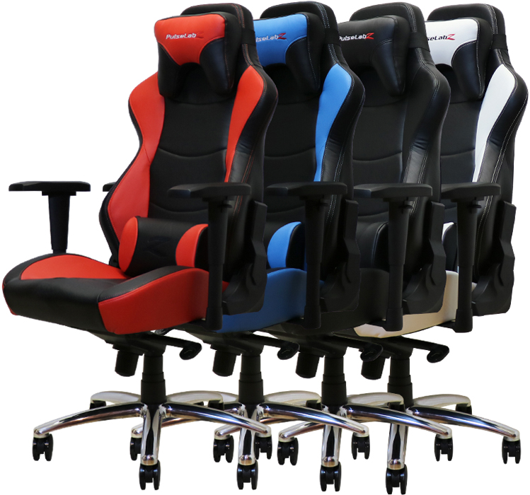 attachable high chair leather swivel recliner pulselabz guardian series gaming - white/black newegg.ca