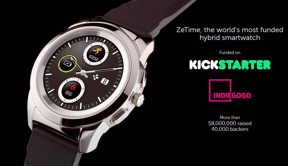 MyKronoz ZETIME ELITE REGULAR (44 mm) 2-in-1 Hybrid Smartwatch with Mechanical Hands And Color Touchscreen- Titanium Morden Link - Newegg.ca