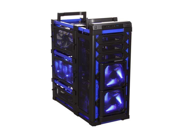 Antec Lanboy air Blue Black  Blue ATX Mid Tower Computer