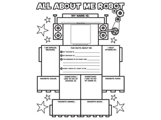 Graphic Organizer Posters: All-About-Me Robot (Grades K-2