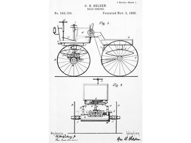 Selden Road Engine 1895 Nthe First Patent Ever Granted For