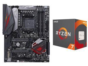 AMD RYZEN 7 1800X 8-Core 3.6 GHz (4.0 GHz Turbo) Socket AM4 95W YD180XBCAEWOF Desktop Processor, ASUS ROG Crosshair VI Hero ...