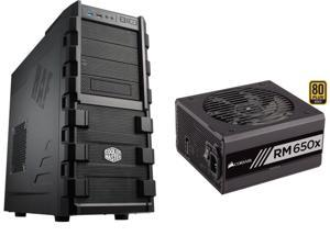 Cooler Master HAF 912 - Mid Tower Computer Case, CORSAIR RMx Series RM650X 650W PSU