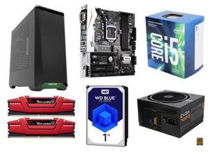 Intel Core i5-7500 Kaby Lake Quad-Core 3.4 GHz, ASRock B250M Pro4 LGA 1151 Intel B250, G.SKILL Ripjaws V Series 8GB (2 x ...