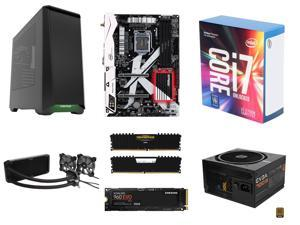 Intel Core i7-7700K Kaby Lake Quad-Core 4.2 GHz, ASRock Z270 KILLER SLI/AC MB, CORSAIR Vengeance LPX 16GB DDR4 3000, Phanteks ...