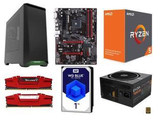 AMD RYZEN 5 1600X 6-Core 3.6 GHz, GIGABYTE GA-AB350-Gaming AMD B350 MB, G.SKILL Ripjaws V Series 16GB DDR4 2400, WD Blue ...