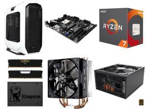 AMD RYZEN 7 1700X 8-Core 3.4 GHz, BIOSTAR X370GT5 AM4 AMD X370 MB, CORSAIR Vengeance LPX 16GB DDR4 3000, Corsair Graphite ...