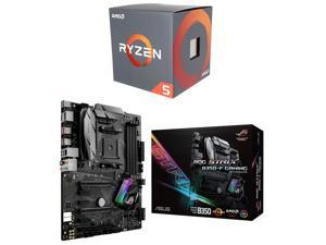 AMD RYZEN 5 1600 6-Core 3.2 GHz (3.6 GHz Turbo) Socket AM4 65W YD1600BBAEBOX Desktop Processor, ASUS ROG STRIX B350-F GAMING ...