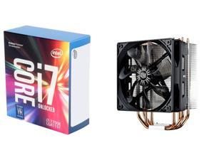 Intel Core i7-7700K Kaby Lake Quad-Core 4.2 GHz LGA 1151 Desktop Processor, Cooler Master Hyper 212 EVO - CPU Cooler with ...