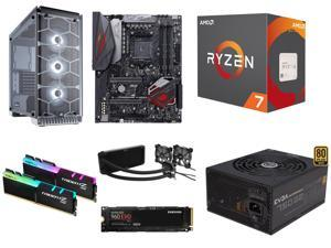 AMD RYZEN 7 1800X 8-Core 3.6 GHz Processor, ASUS ROG Crosshair VI Hero AM4 AMD X370 MB, G.SKILL TridentZ RGB Series 16GB ...