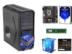Intel Pentium G4400 Skylake Dual-Core 3.3 GHz Processor, GIGABYTE GA-B250M-DS3H Intel B250 MB, Crucial 8GB DDR4 2133 Desktop ...