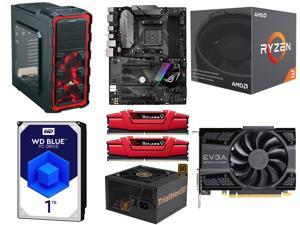 AMD RYZEN 3 1200 4-Core 3.1 GHz, ASUS ROG STRIX B350-F GAMING AM4 AMD B350 Motherboard, G.SKILL Ripjaws V Series 8GB DDR4 ...