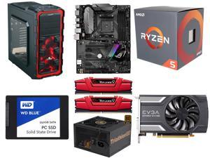 AMD RYZEN 5 1600 6-Core 3.2 GHz CPU, ASUS ROG STRIX B350-F GAMING AM4 MB, G.SKILL Ripjaws V Series 8GB DDR4 2400 MEM, WD ...