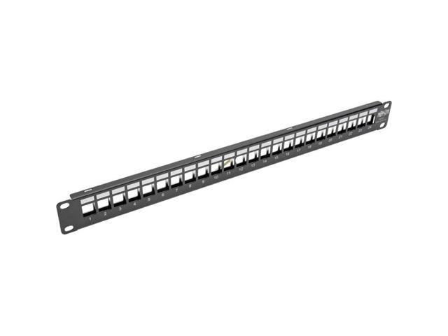 Tripp Lite 1U Patch Panel Rackmount 24-Port Shielded Blank