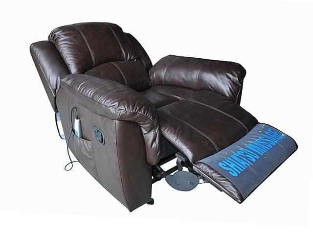 extra wide office chairs shower chair cvs turnda espresso leather glider recliner with heat and vibrate massage recliners - newegg.com