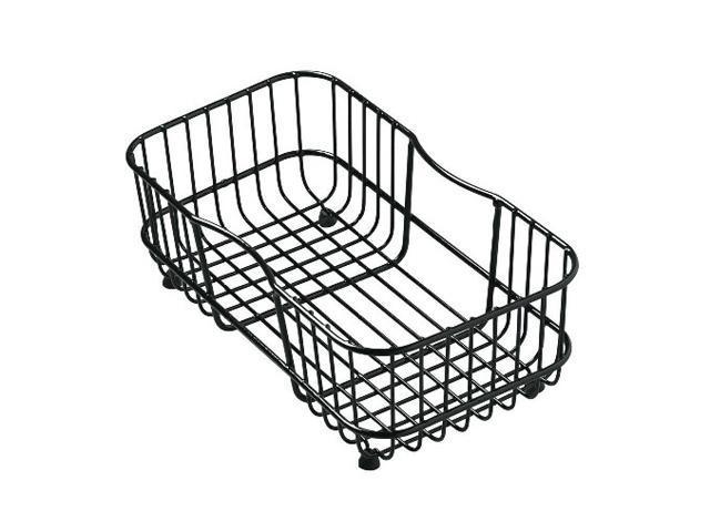 KOHLER K-6511-7 Lakefield Wire Rinse Basket, Black