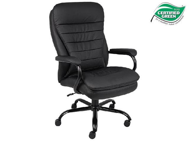 boss ntr executive leatherplus chair covers kerry office products b991-cp heavy duty pillow top - newegg.com