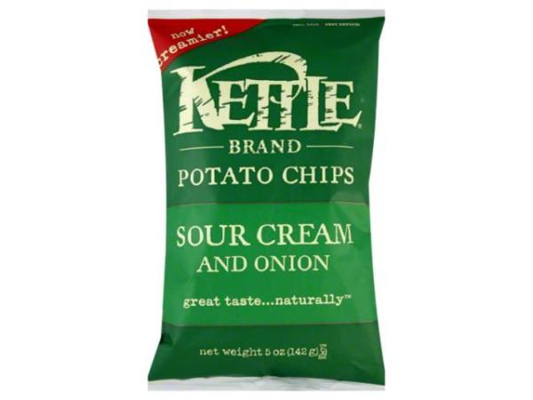 Kettle Brand Chips Sour Cream And Onion Potato Chips 5 oz