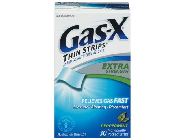 Gas-X Extra Strength Thin Strips Peppermint 30 ea ...