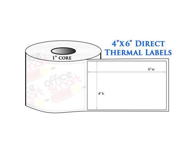 10 Rolls 4x6 Direct Thermal Labels for Zebra GC420d GC420t