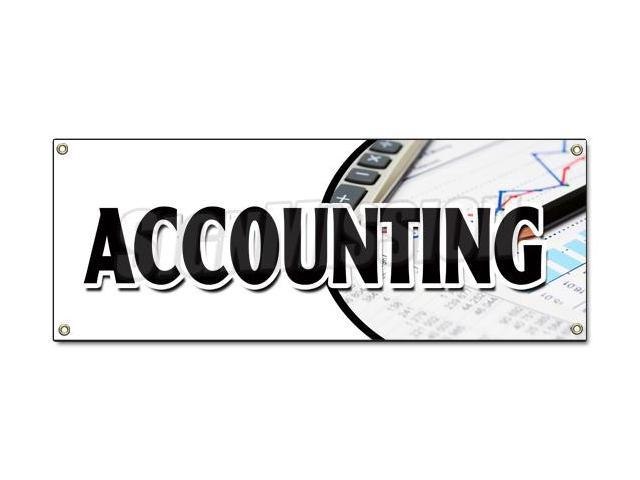ACCOUNTING BANNER SIGN tax return preparation cpa refund