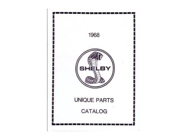 1968 Ford Shelby Unique Parts Numbers Book List Guide