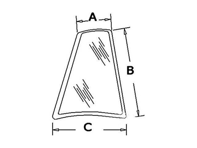 D126204 New Case Backhoe RH Rear Quarter Glass 580K 580L