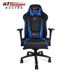 Racing Desk Chair Black Rocking Chairs Gt Omega Pro Xl Office Gaming And Blue Leather