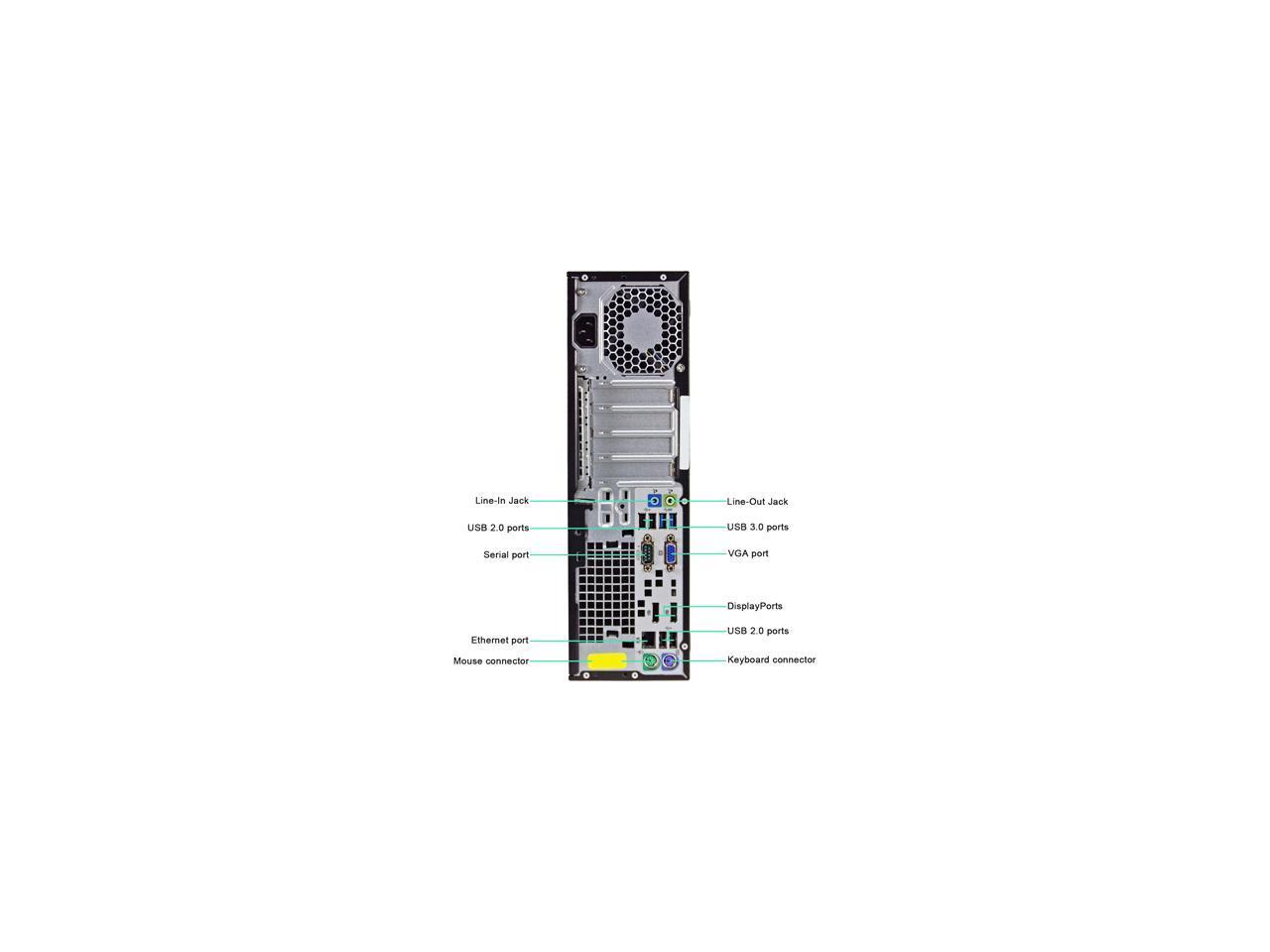 HP Desktop Computer 800 G1 Intel Core i7 4th Gen 4770 (3