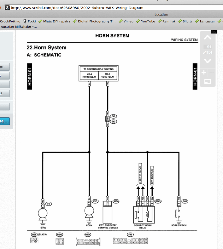 1998 subaru impreza radio wiring diagram 1994 honda prelude wrong for horn wire ? photo - nasioc