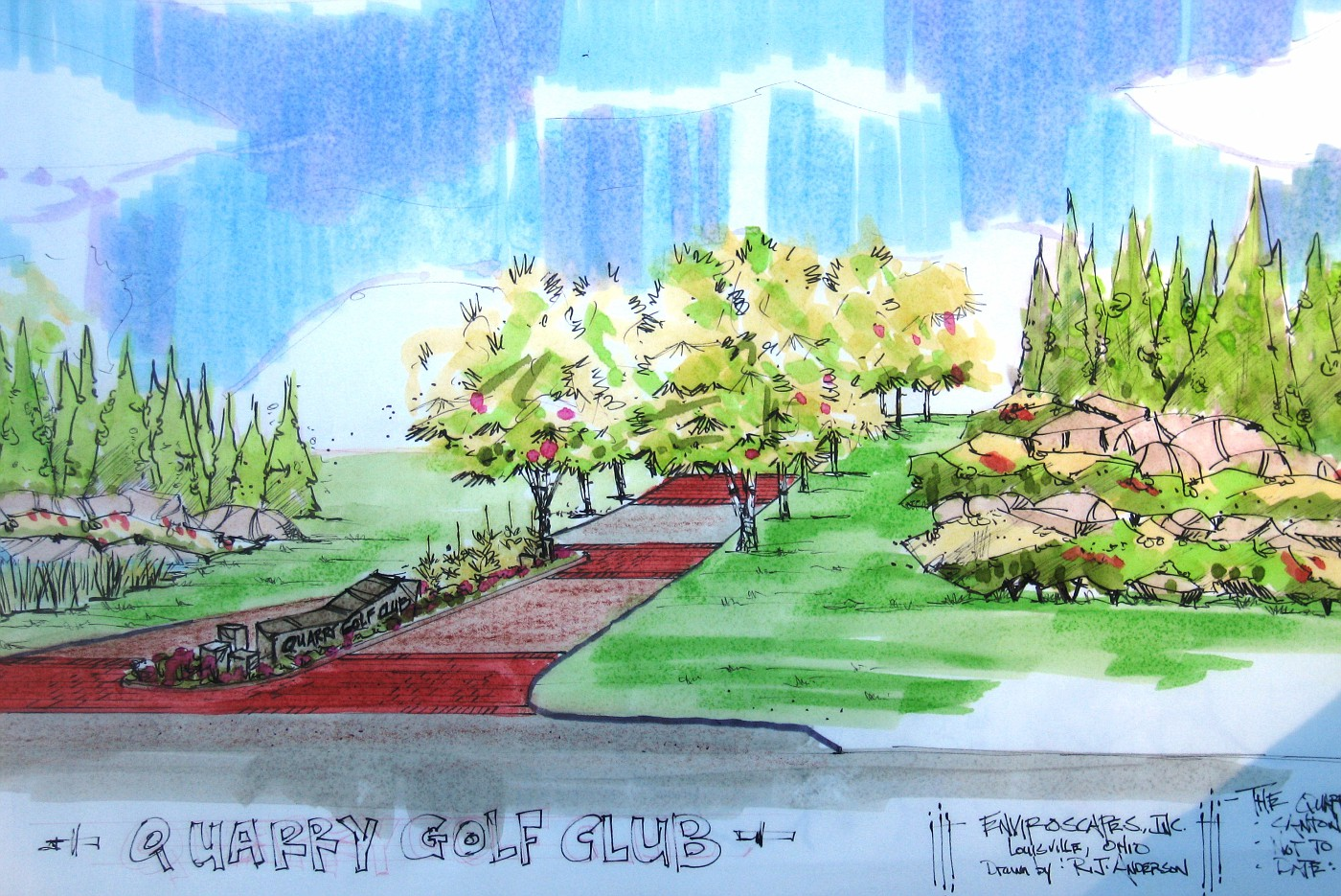 presentation landscape drawing