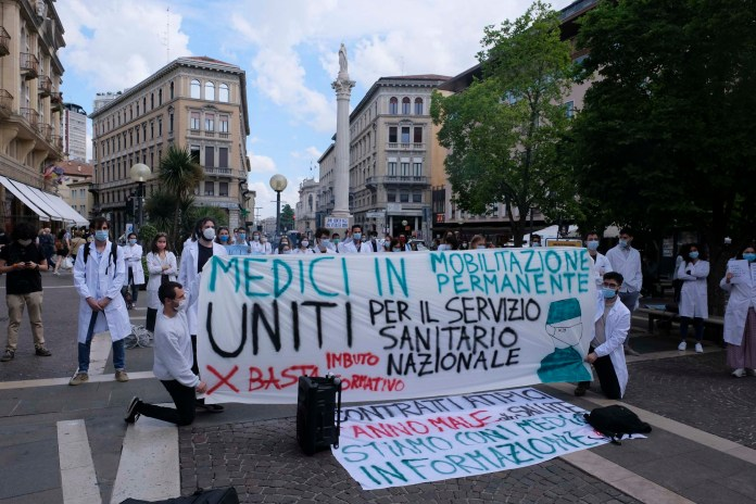 The protest in Padua (Marco Bergamaschi)