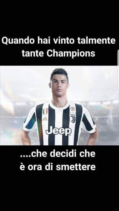 Cristiano Ronaldo alla Juve Ed  subito meme  Corriereit