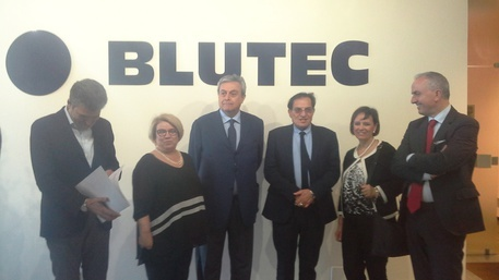La presentazione di Blutec in Sicilia con l'allora governatore Rosario Crocetta
