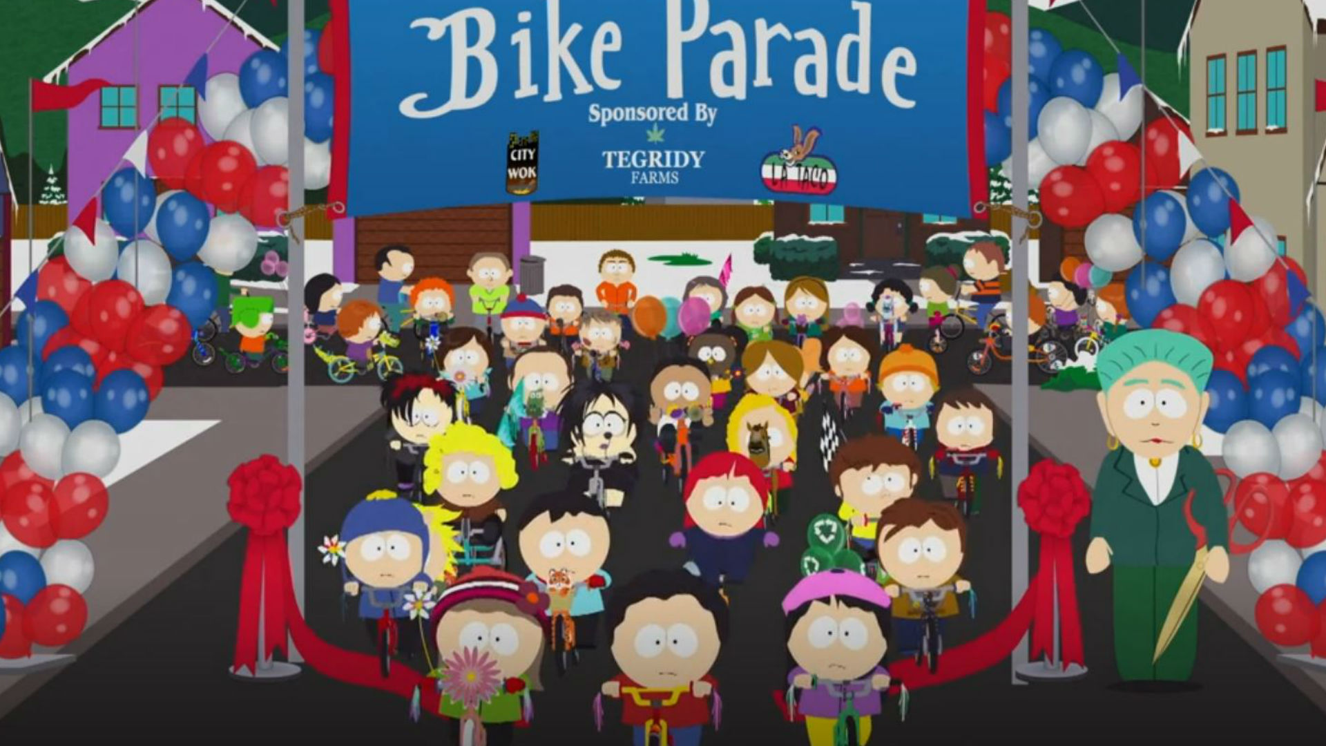 south park on much