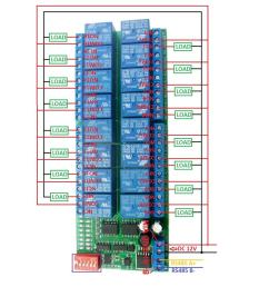 2 dc 1 110v or ac 85 265v control circuit wiring diagram below note if not dc 12v load need another dc 12v power supply load may be led lights fans  [ 1000 x 1000 Pixel ]