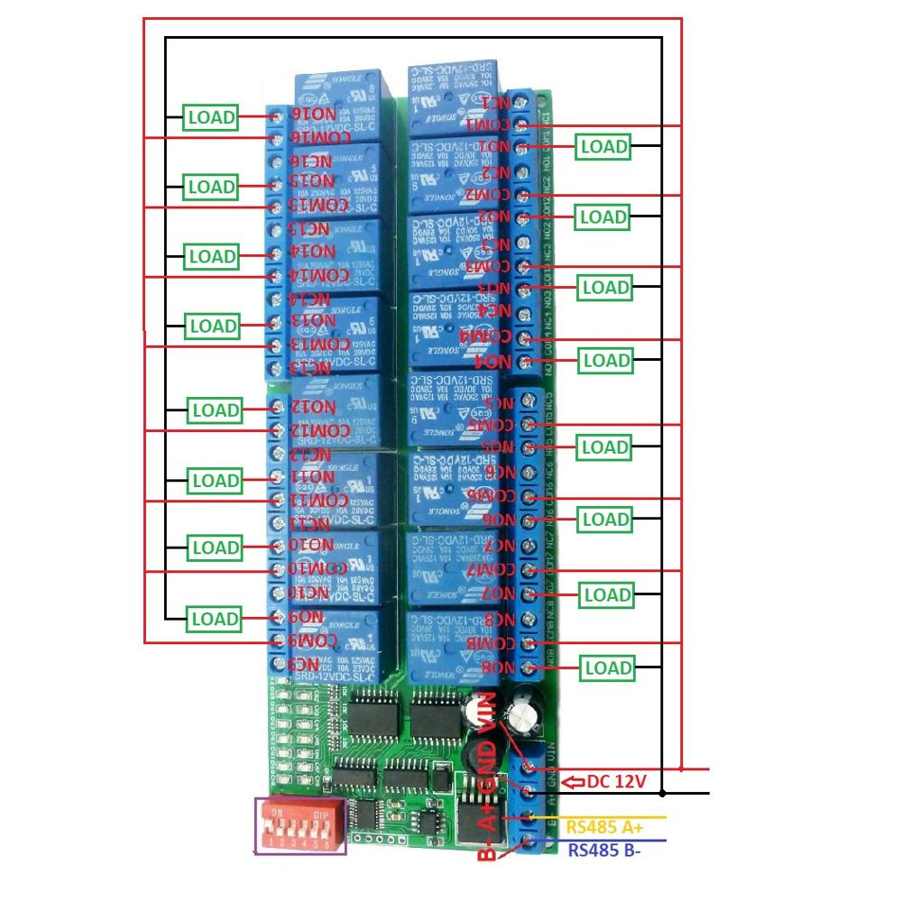 hight resolution of 2 dc 1 110v or ac 85 265v control circuit wiring diagram below note if not dc 12v load need another dc 12v power supply load may be led lights fans