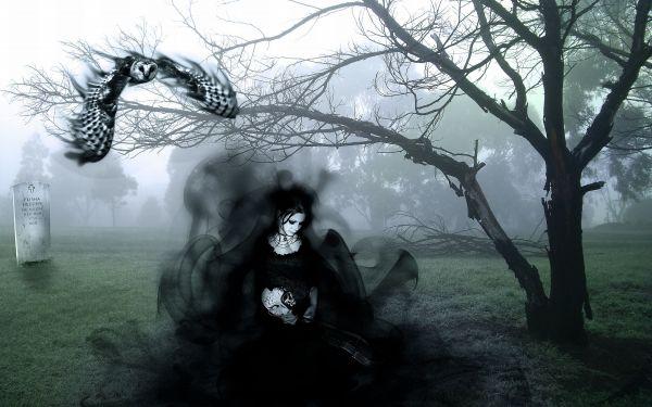 Graveyard Gothic Dark Fairy Art