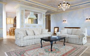 interior classic wallpapers table studio wall background desktop furnished интерьер фото